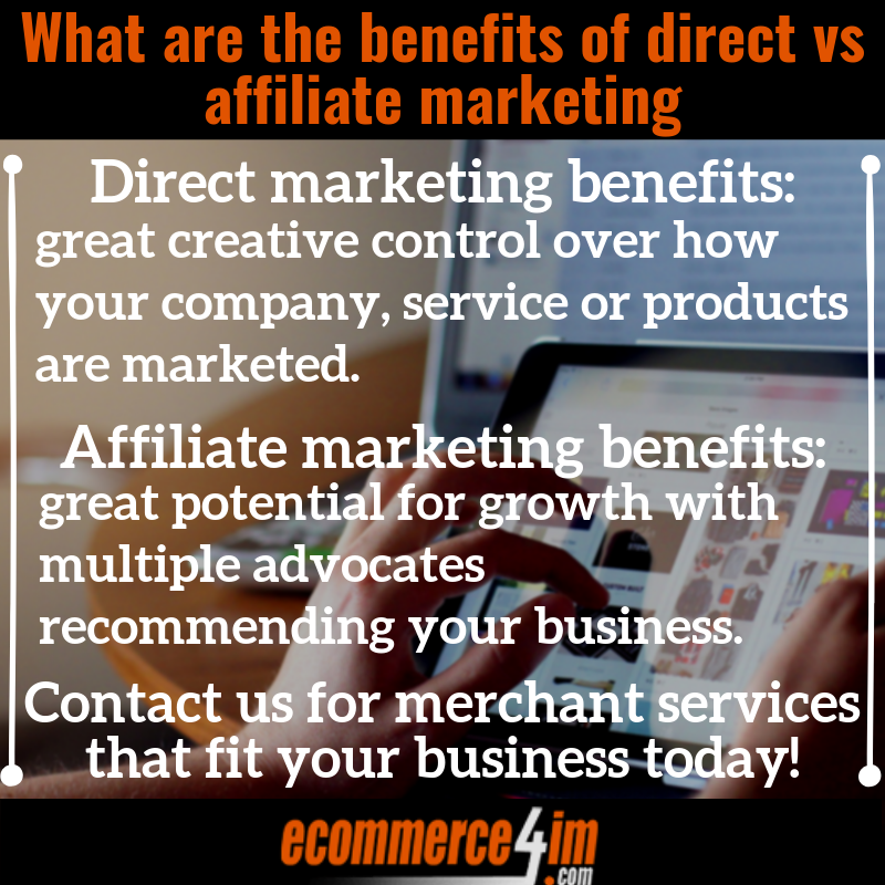 What are the benefits of direct vs affiliate marketing - Summary Image