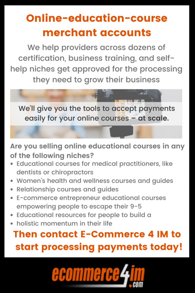 EC4IM - online-education-course merchant accounts - infographic