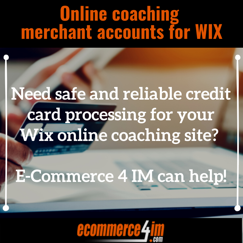Online coaching merchant accounts for WIX - Quote Image