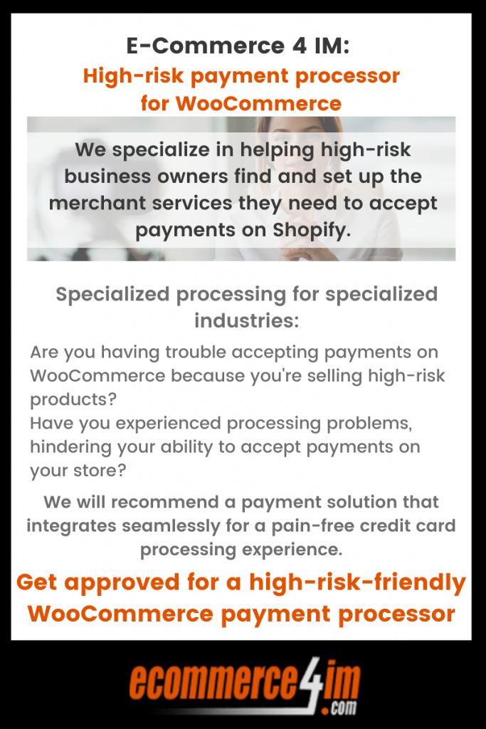High-risk payment processor for WooCommerce - primary infographic